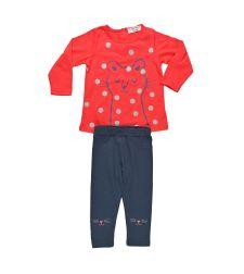חליפת בנות טריקו/לייקרה 12-24M BASIC אדום