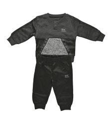 סט פיטנס ניקי 655735BKBB תינוקות בנים שחור אפור