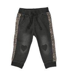 מכנסי פרנץ טרי ג'ינס מדוגם 6M-24M בנות 30020213136 מעבר