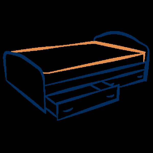 מיטות עם ארגז מצעים