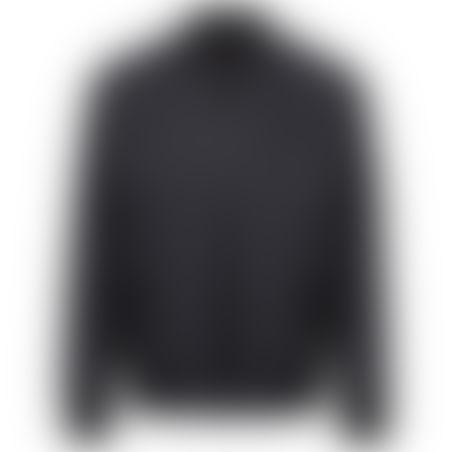 ג׳קט ספורט פס צווארון ריב - שחור