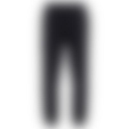 מכנסי ספורט (טרינינג) סקיני סרט צדדי- שחור