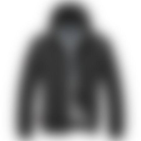 מעיל BOMBER כובע נשלף - שחור