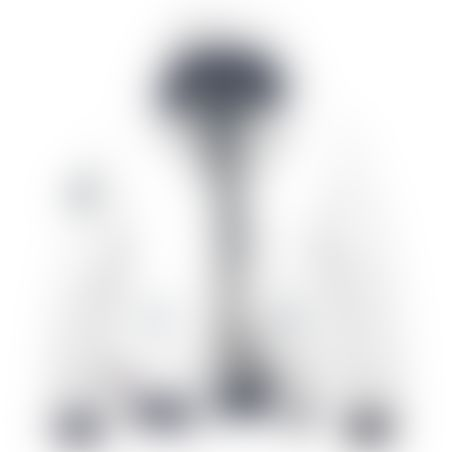 מעיל BOMBER כובע נשלף - לבן
