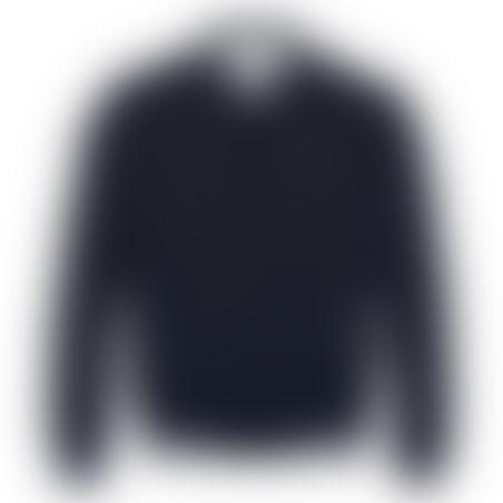 מעיל דו-צדדי - נייבי/לבן