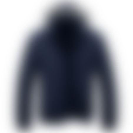 מעיל פרווה קצר- כובע נשלף - נייבי