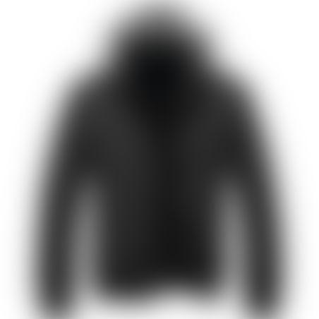 מעיל פרווה קצר- כובע נשלף - שחור