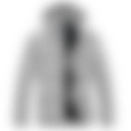 מעיל פרווה ארוך- כובע נשלף - אפור בהיר