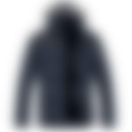 מעיל פרווה ארוך- כובע נשלף - נייבי