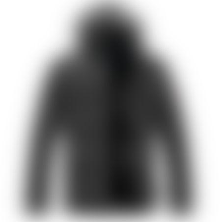 מעיל פרווה ארוך- כובע נשלף - שחור