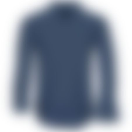 חולצת כפתורים Classic Pattern - נייבי