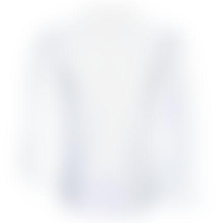 חולצת כפתורים Classic Pattern - לבן