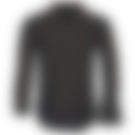 חולצת כפתורים Classic Pattern - שחור