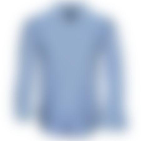 חולצת כפתורים Classic Pattern - תכלת