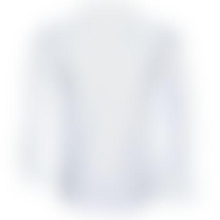 חולצת כפתורים נסתרים נקודות - לבן