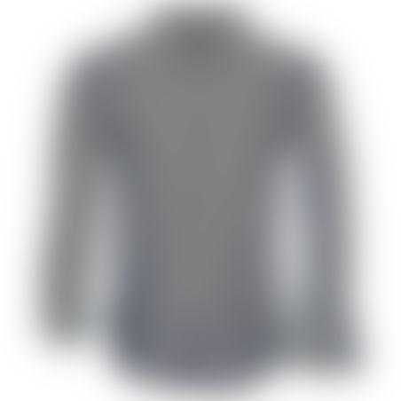 חולצת כפתורים משבצות קטנות- אפור