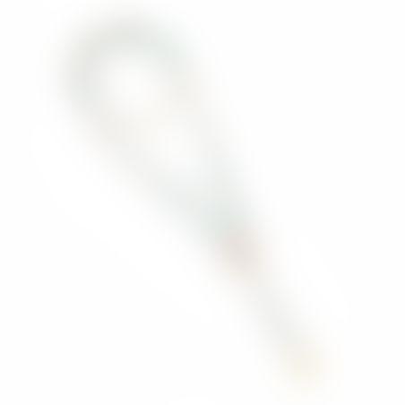 שרשרת בוהו - לבן, חום, טורקיז, זהב