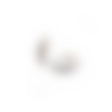 עגילי חישוק זירקונים - כסף 925