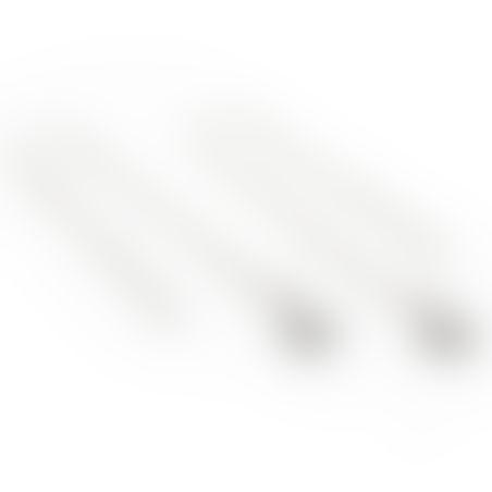 עגילי גדיל כוכב - כסף 925