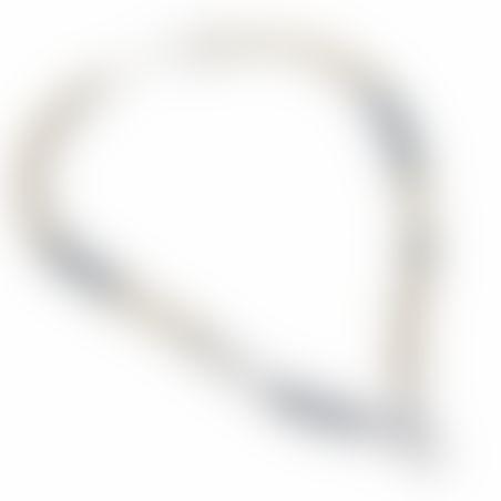שרשרת ניקי מהדורה - שחור, לבן, כסף