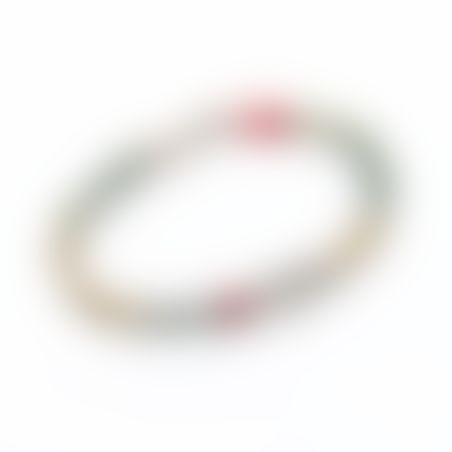 צמיד ניקי - טורקיז, אדום, כסף