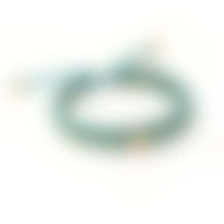 צמיד קרושה קונכיה - טורקיז, זהב