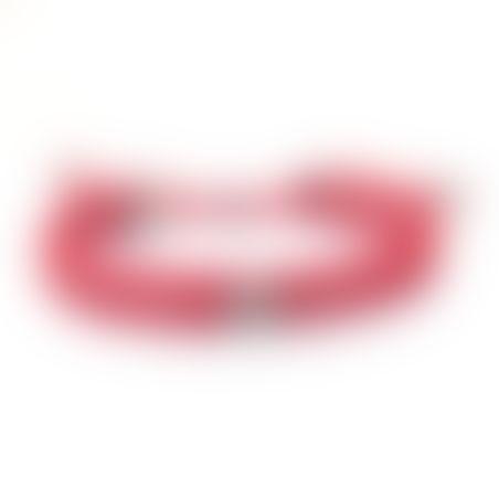 צמיד קרושה קונכיה - אדום, כסף