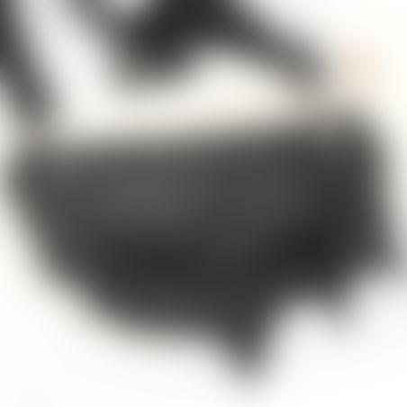 פאוץ' עור - שחור כסוף