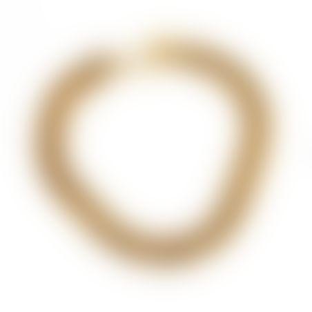 שרשרת גורמט עבה - זהובה