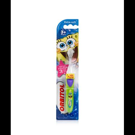 מברשת שיניים מנצנצת (לעידוד הצחצוח למשך 2 דקות) דגם בוב ספוג