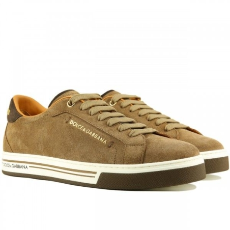 Dolce & Gabbana Cashmere leather sneaker