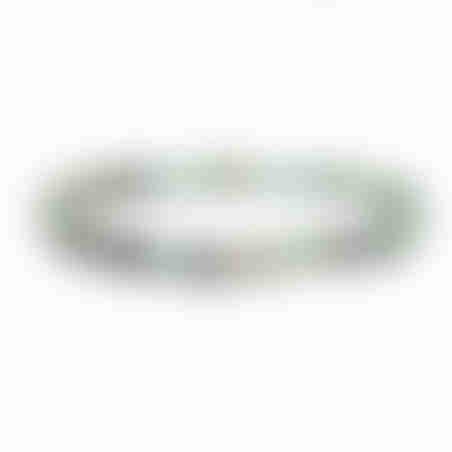 צמיד בוהו גולגולת - טורקיז, כסף