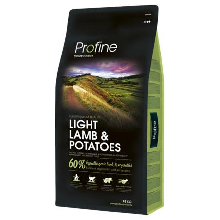 פרופיין - מזון יבש לכלבים עם עודף משקל, כבש ותפוחי אדמה 15 קילו - profine
