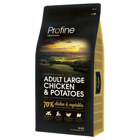 פרופיין - מזון יבש לכלבים בוגרים מגזע גדול, עוף ותפוחי אדמה 15 קילו - profine
