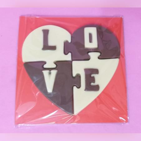 פאזל לב שוקולד LOVE