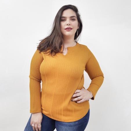 חולצת ריפס- חרדל- SALE