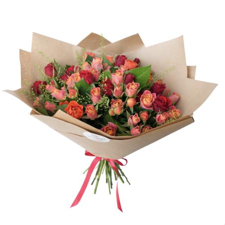 זר ורדים נמוכים 40 ס