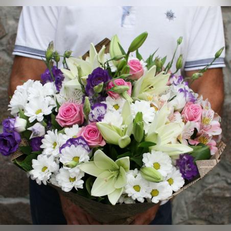 זר אלסטרומריה, ליזיאנטוס, ורדים וליליות #52