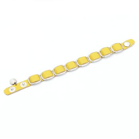 צמיד ענת - צהוב, כסף