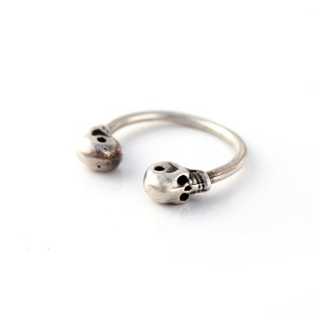 טבעת גולגולות - כסף 925