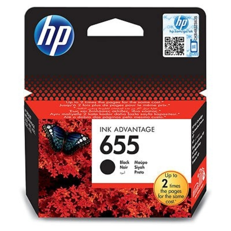 ראש דיו שחור מקורי HP 655
