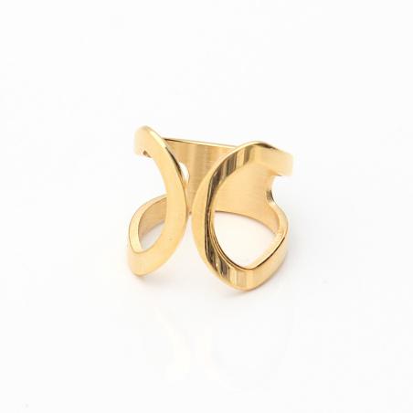 טבעת פרסות פתוחה - זהובה