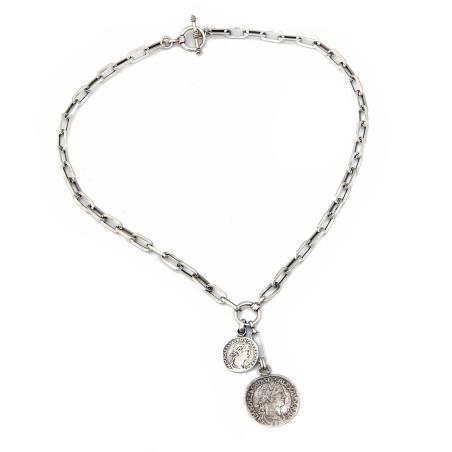 שרשרת קלאודיוס - כסף 925 מושחר