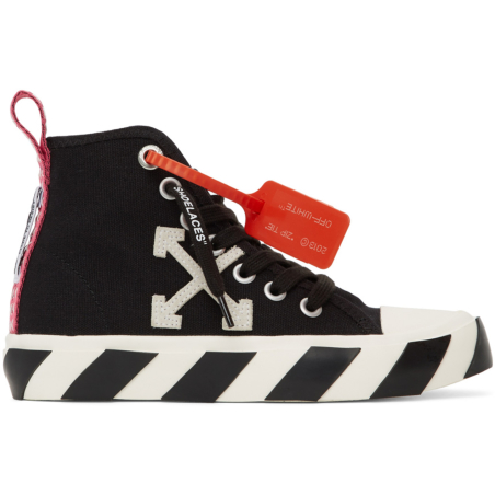 OFF WHITE -BLACK MID TOP SNEAKERS