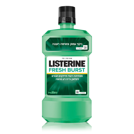 Listerine FreshBurst שטיפת פה 500 מ'ל בטעם מנטה מרענן