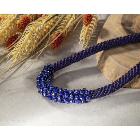 שרשרת סגול / סגול כחול - אילה
