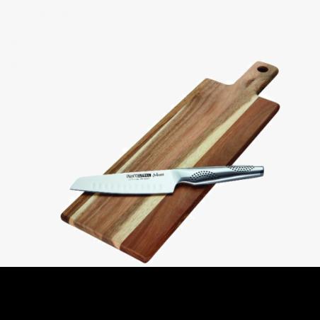אדוני- סט 2 ח' סכין סנטוקו 15 סמ+לוח חיתוך