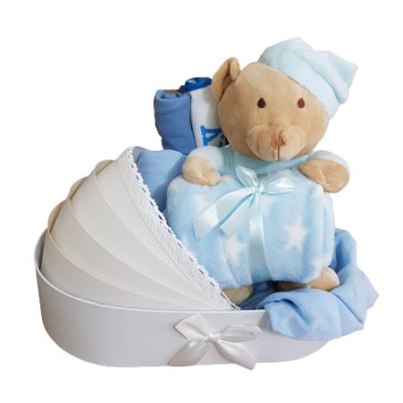 מתנה להולדת הבן - עריסת דובי