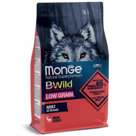 MONGE BWILD מונג' ביווילד מזון יבש לכלב בוגר צבי 7.5 ק