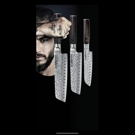 סט סכיני סנטוקו טום אביב -3 סכיני שף מהודרים